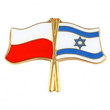 Przypinka, pin flaga Polska-Izrael
