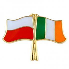 Przypinka, pin flaga Polska-Irlandia