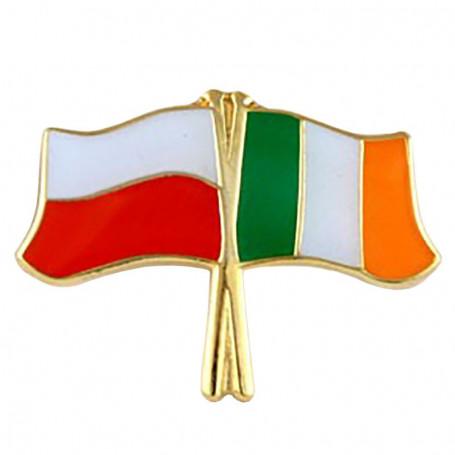 Pin, pin de la bandera Polonia-Irlanda