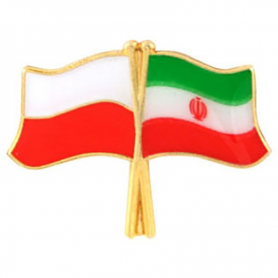 Przypinka, pin flaga Polska-Iran