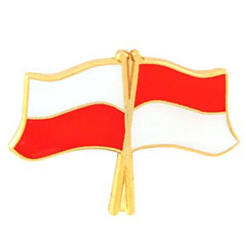 Botones, marcador de bandera Polonia-Indonesia