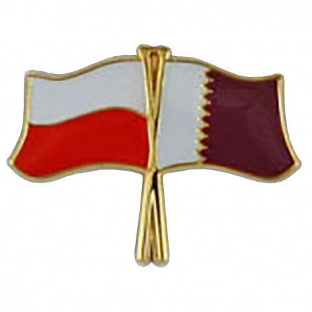 Przypinka, pin flaga Polska-Katar