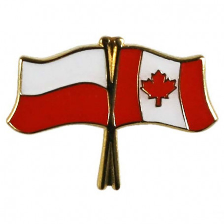 Przypinka, pin flaga Polska-Kanada