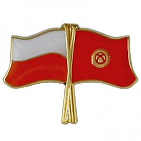 Przypinka, pin flaga Polska-Kirgistan