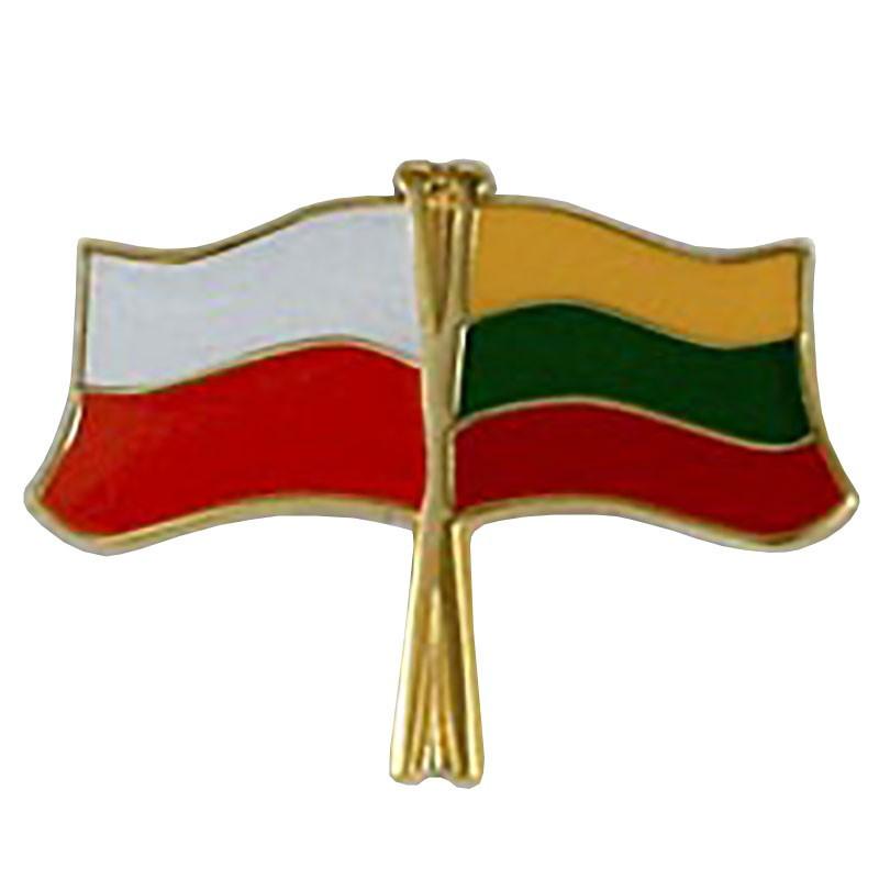 Przypinka, pin flaga Polska-Litwa