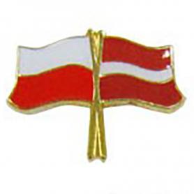 Pin, drapeau drapeau Pologne-Lettonie