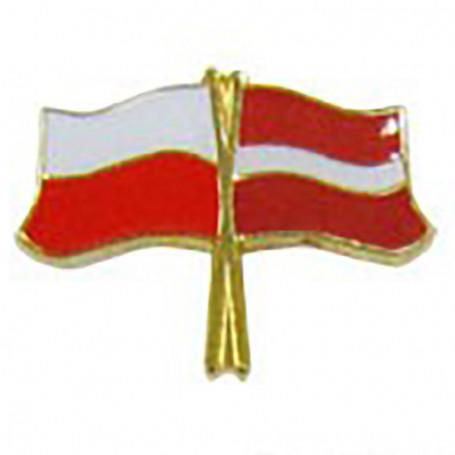 Pin, marcador de bandera Polonia-Letonia