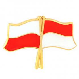 Przypinka, pin flaga Polska-Monako