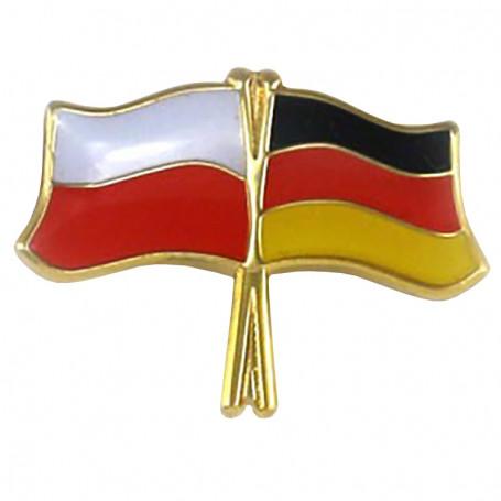 Przypinka, pin flaga Polska-Niemcy