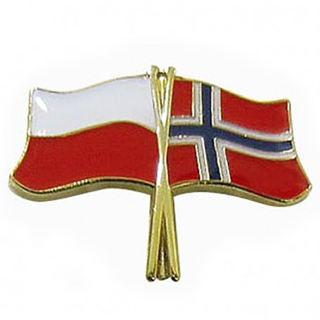 Pin, pin de la bandera de Polonia-Noruega