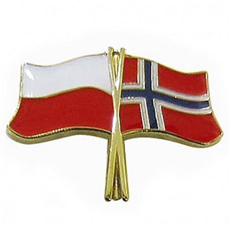 Przypinka, pin flaga Polska-Norwegia