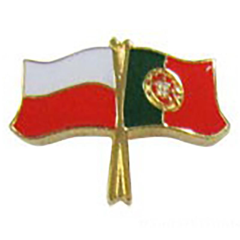 Pin, drapeau drapeau Pologne-Portugal