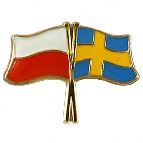 Pin, flag pin Polonia-Suecia