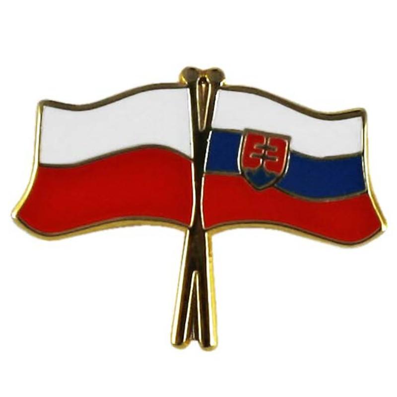 Boutons, drapeau de la Pologne et de la Slovaquie