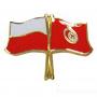 Pin, bandera pin Polonia-Túnez