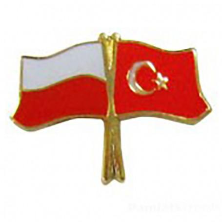 Pin, pin de la bandera de Polonia y Turquía