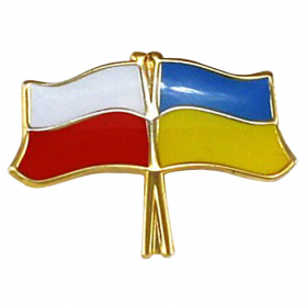 Przypinka, pin flaga Polska-Ukraina