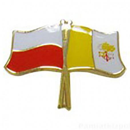 Pin, flag pin Polonia-Vaticano