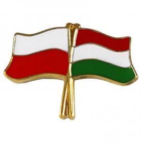 Przypinka, pin flaga Polska-Węgry