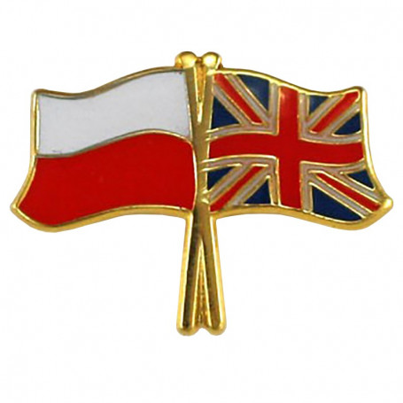 Botones, flag pin Polonia-Reino Unido