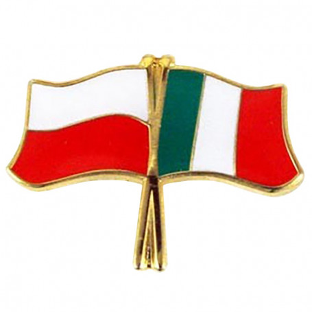 Pin, pin de la bandera Polonia-Italia
