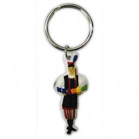 Gummi Schlüsselanhänger, männliches Cracov Kostüm
