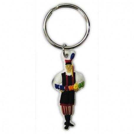Porte-clés en caoutchouc, costume masculin Cracov