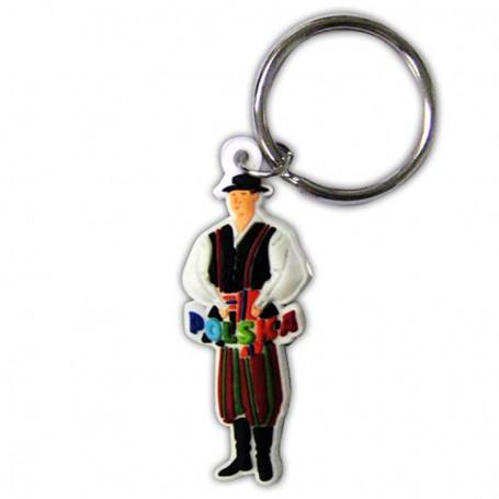 Porte-clés en caoutchouc, costume folklorique des hommes