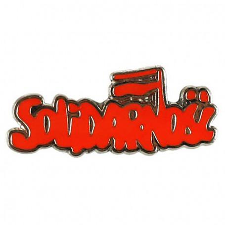 Przypinka, pin Solidarność duża