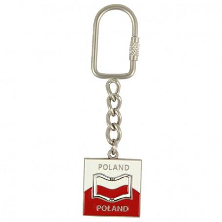 Porte-clés en métal, émerillon, drapeau polonais
