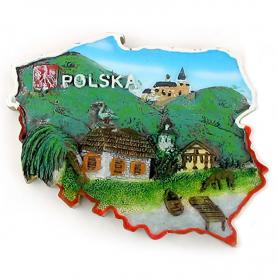 Aimant contour de la Pologne