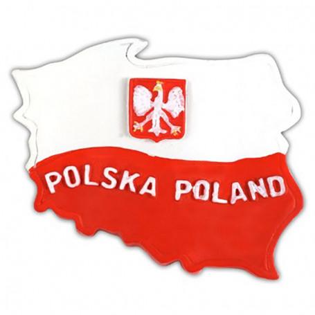 Contorno del imán. Bandera polaca