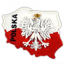 Magnes kontur Polska orzeł
