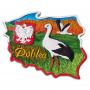Magnes kontur Polska bociany