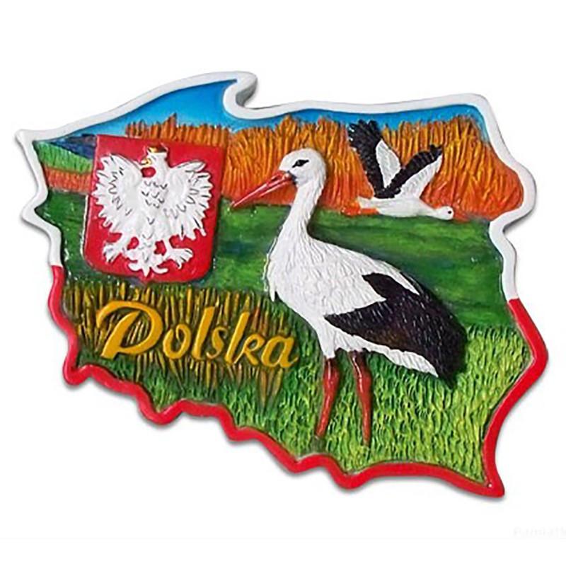 Aimant contour des cigognes de Pologne