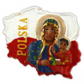 Fridge magnet, Poland shaped, Mother of God