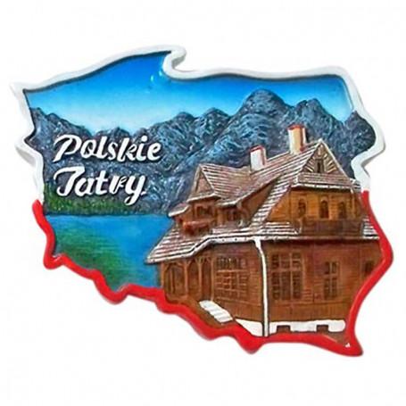 Aimant contour de la Pologne Tatry