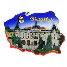 Fridge magnet, Poland shaped, Bialystok Baranicki's Palace