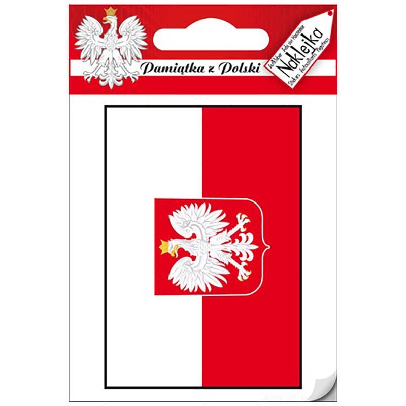 Naklejka pojedyncza Polska - Bandera