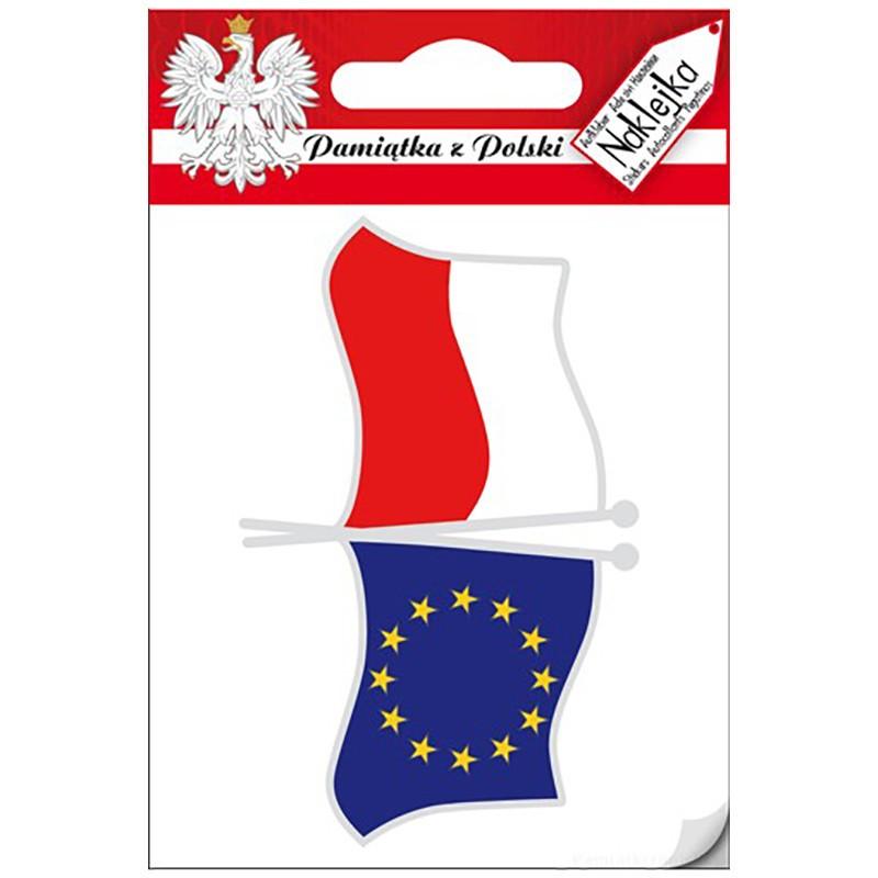 Naklejka pojedyncza Polska - Unia Europejska