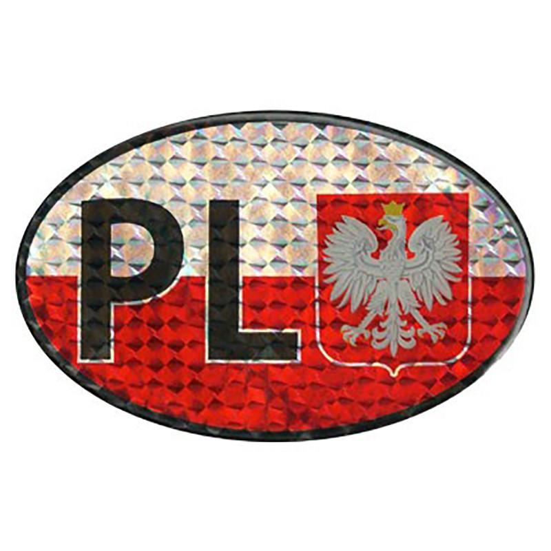 Naklejka na samochód PL - Orzeł