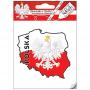 Autocollant de voiture - contour polonais avec aigle