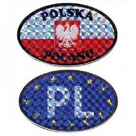 Car decal Auto Poland and the European Union