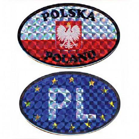 Zestaw naklejek na samochód - PL - UE