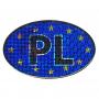 Naklejka na samochód - PL - UE