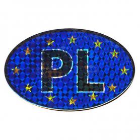 Car decal Auto oval shape with EU flag