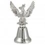 Dzwonek metalowy mały z orłem