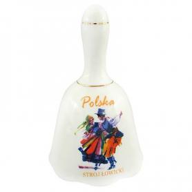 Dzwonek ceramiczny duży - Strój Łowicki