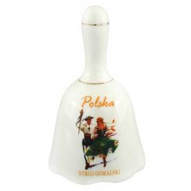 Dzwonek ceramiczny duży - Strój góralski