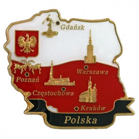 Contorno de imán de Polonia